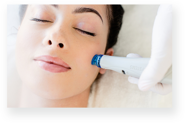 Patient receiving hydrafacial